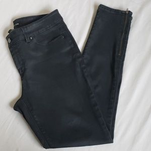 White House Black Market Skinny Ankle Zip Jeans